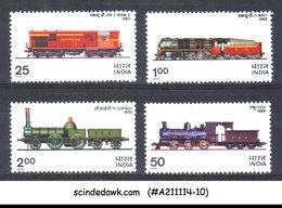 INDIA - 1976 INDIAN RAILWAY LOCOMOTIVE / TRAINS - 4V - MNH - Eisenbahnen