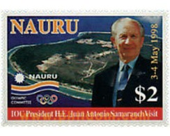 Ref. 40596 * MNH * - NAURU. 1998. VISIT OF JUAN ANTONIO SAMARANCH PRESIDENT OF INTERNATIONAL OLYMPIC COMMITTEE . VISITA - Famous People