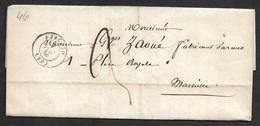 1846 - LAC - AJACCIO (CORSE) - 9 COMPAGNIE DES VOLTIGUERS CORSES A FABRICANT D'ARMES - Signé Le LIEUTENANT COMMANDANT - 1801-1848: Précurseurs XIX