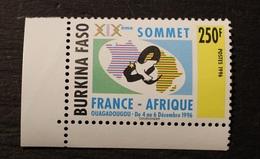 TIMBRE BURKINA NEUF SANS CHARNIERE XXème SOMMET  FRANCE AFRIQUE  1996  N° 1002B - Burkina Faso (1984-...)