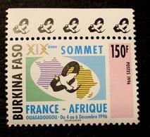 TIMBRE BURKINA NEUF SANS CHARNIERE XXème SOMMET  FRANCE AFRIQUE  1996  N° 1002A - Burkina Faso (1984-...)