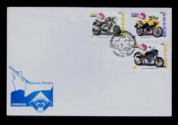 Motos Motorbikes CUBA Fdc 2009 CAGIVA MITO N1 Transports DUCATI MONSTER 900 Sports HYOSUNG-GT 8 Sp1735 - Moto