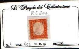 90814) ITALIA- 80C. Tipo Di Sardegna Dentellati - 1862 (febbraio/ottobre)-MLH* - Nuovi