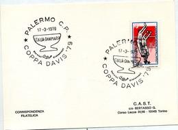 PALERMO 17.3.1979 - COPPA DAVIS -  ITALIA DANIMARCA - 1971-80: Storia Postale