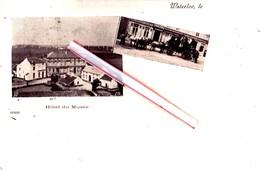 WATERLOO - Hôtel Du Musée (en 2 Vues) - Carte Circulée En 1901 - Waterloo