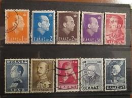 Grecia Greece 1950 - 1965 Lot King Paul And Personalities Used - Grecia