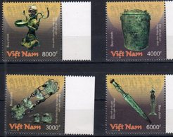 VIETNAM, 2018, MNH, NATIONAL TREASURES, BRONZE, 4v - Archaeology