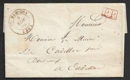 1845 - LAC - MARTORY ( De La MAIRIE ) A GAILLAC -  PORT PAYÉ  - Signé Par Le MAIRE - 1801-1848: Précurseurs XIX