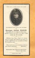FAIRE PART DECES SOLDAT MILITAIRE MARIN MARINE CHEVALIER LEGION HONNEUR SAINT CYR SUR LOIRE 1935 - Documents