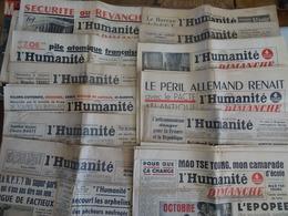 Lot De 12 Numéros L'HUMANITÉ Et L'HUMANITÉ-DIMANCHE 1947-1967 - Journaux - Quotidiens
