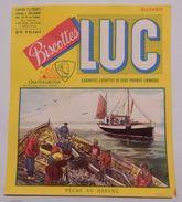 Ancien Buvard Biscottes LUC Châteauroux Pêche Aux Harengs - Biscottes