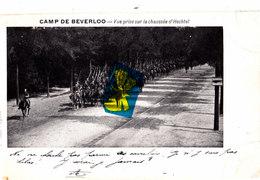 Camp De BEVERLOO - Vue Prise Sur La Chaussée D'Hechtel - Carte Circulée En 1901 - Leopoldsburg (Kamp Van Beverloo)