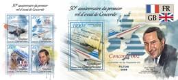 Z08 CA190108ab CENTRAL AFRICA 2019 Concorde MNH ** Postfrisch Set - Zentralafrik. Republik