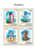 Z08 CA190114a CENTRAL AFRICA 2019 Lighthouses Leuchtturm MNH ** Postfrisch - Zentralafrik. Republik