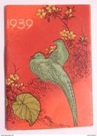 CALENDRIER PETIT FORMAT 1939 MEMENTO CHOCOLAT DELESPAUL HAVEZ LILLE OISEAUX - Petit Format : 1921-40