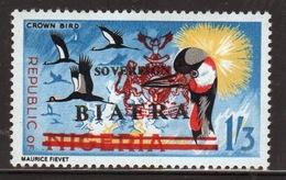 Biafra 1968 1/3d Definitive Stamp Of Nigeria Overprinted 'Sovereign Biafra'. - Nigeria (1961-...)
