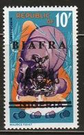 Biafra 1968 10/- Definitive Stamp Of Nigeria Overprinted 'Sovereign Biafra'. - Nigeria (1961-...)