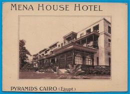 Carte Double Publicitaire Egypte Egypt MENA HOUSE HOTEL Pyramids CAIRO - Descente Du Fleuve NIL - NILE River - Publicidad