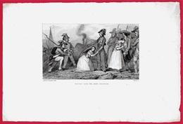 """GRAVURE XIXe A. Johannot (Général) """"MARCEAU Sauve Une Jeune Vendéenne"""" 72 LE MANS Révolution Française Armée De L'Ouest - Documents Historiques"""