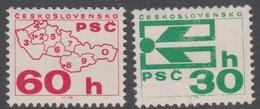 Czechoslovakia Scott 1978-1979 1976 Coil Stamps, Mint Never Hinged - Czechoslovakia