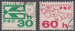 Czechoslovakia Scott 1978-1979 1976 Coil Stamps, Used - Used Stamps