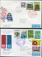 1969 Japan Korea First Flight Covers (2). JAL Japan Air Lines. Osaka / Pusan - Corréo Aéreo