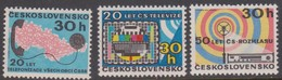 Czechoslovakia Scott 1980-1982 1973 Anniversaries, Mint Never Hinged - Czechoslovakia