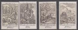 Czechoslovakia Scott 1988-1991 1975 Hunting Scenes, Mint Never Hinged - Czechoslovakia