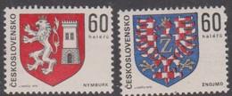 Czechoslovakia Scott 2000-2001 1975 Coat Of Arms, Mint Never Hinged - Czechoslovakia