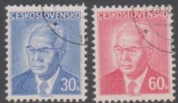 Czechoslovakia Scott 2035-2036 1975 Pres Gustav Husak, Used - Used Stamps