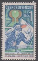 Czechoslovakia Scott 2060 1976 Table Tennis Championship, Mint Never Hinged - Czechoslovakia