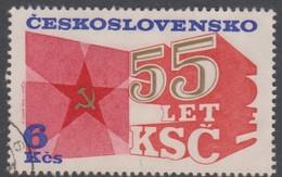 Czechoslovakia Scott 2070 1976 Communist Party 55th Anniversary, Used - Czechoslovakia