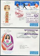1972 Japan / Mexico JAL, Japan Air Lines First Flight Covers (2) Tokyo / Mexico. Winter Olympics - Posta Aerea