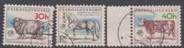 Czechoslovakia Scott 2077-2079 1976 Earth Exhibition, Used - Used Stamps