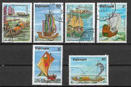 VIETNAM   1983 BARCHE A VELA YVERT. 381-386 USATA VF - Vietnam