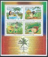 Tonga Niuafo'ou 1991 Specimen S/S - Legend Of The Coconut - Tonga (1970-...)