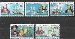 MADAGASCAR    1975  BICENTENARIO INDIPENDENZA DEGLI STATI UNITI YVERT. 560-561+P.AEREA 149-151 USATA VF - Madagascar (1960-...)