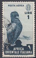 AFRICA ORIENTALE ITALIANA - 1938 - Posta Aerea Yvert 5, Usato. - Italian Eastern Africa