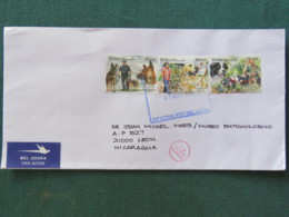 Malaysia 2018 Cover To Nicaragua - Dogs Police Blind Rescue - Malaysia (1964-...)