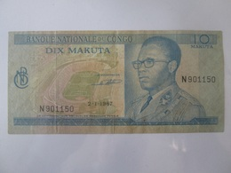 D.R.Congo 10 Makuta 1967 Banknote - Congo
