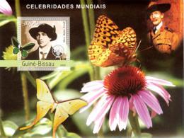 Guinea Bissau 2003  O.B.Powel – Scouts ,flower  Butterflies - Guinea-Bissau