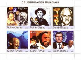 Guinea Bissau 2003      Galilee-J.Verne, J.A.Fabre, Fleming, Tazief, Pavarotti-Verdi, Walesa - Guinea-Bissau