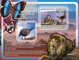 Guinea Bissau  2008   Fauna Lions, Birds, Butterflies - Guinea-Bissau