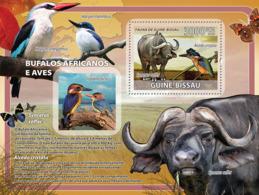 Guinea Bissau  2008  African Buffalos, Birds ,butterflies - Guinea-Bissau