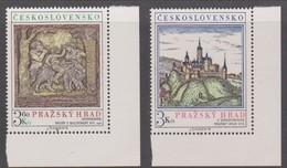 Czechoslovakia Scott 2081-2082 1976 Prague Castle Art, Mint Never Hinged - Czechoslovakia