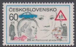 Czechoslovakia Scott 2108 1977 Auxiliary Police 25th Anniversary, Mint Never Hinged - Czechoslovakia