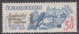 Czechoslovakia Scott 2235 1979 Anniversaries 30h Musical Instruments, Mint Never Hinged - Czechoslovakia