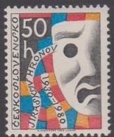 Czechoslovakia Scott 2301 1980 Theatrical Mask, Mint Never Hinged - Czechoslovakia