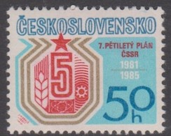 Czechoslovakia Scott 2341 1981 7th Five Year Plan, Mint Never Hinged - Czechoslovakia