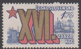 Czechoslovakia Scott 2361 1981 16th Communist Party Congress 1k Bratislava, Mint Never Hinged - Czechoslovakia